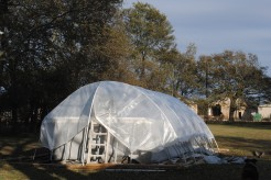 Hoop House pool cover
