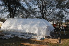 Centipede look hoop house